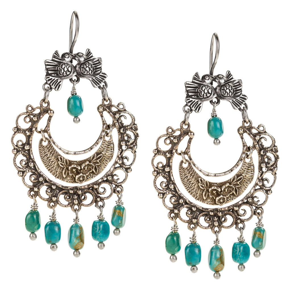 mexican earrings traditional sterling silver mexican filigree earrings with turquoise 144