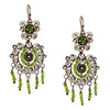 Sterling Silver Mexican Filigree Earrings with Peridot