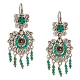 Sterling Silver Mexican Filigree Earrings with Turquoise