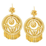 Mexican Filigree Earrings from Oaxaca - Large