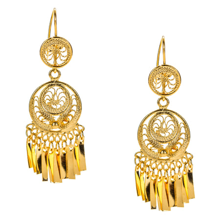 Beaded Tassel Drop Earrings by LK Designs