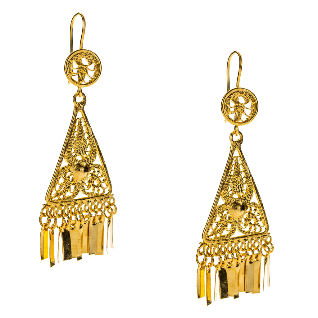 mexican earrings traditional mexican filigree earrings from oaxaca jj caprices 4686