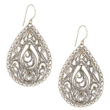 Stunning Filigree Drop Pendant Earrings from Taxco, Mexico