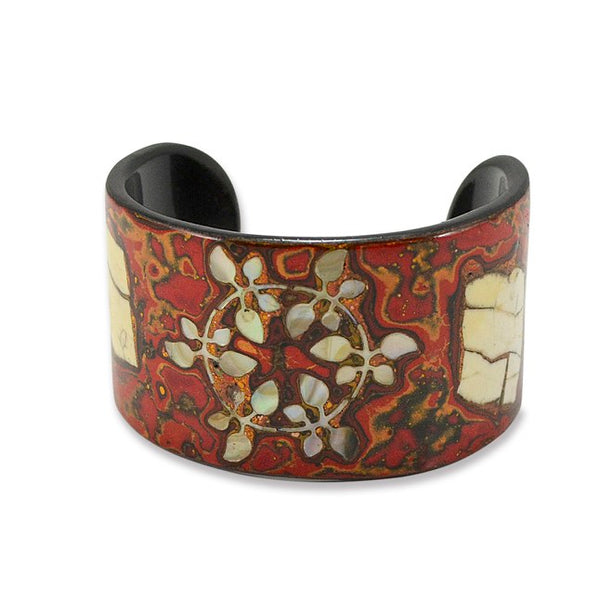 Mother of Pearl and Lacquer Cuff - Small