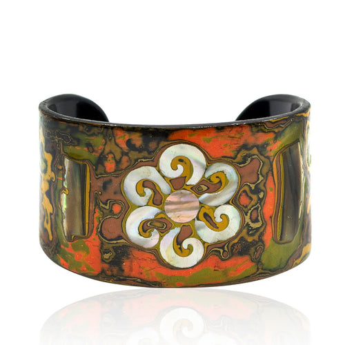 Mother of Pearl and Lacquer Cuff - Sunrise