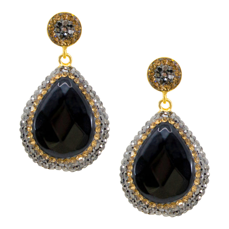 Onyx Ottoman-Inspired Post Earrings