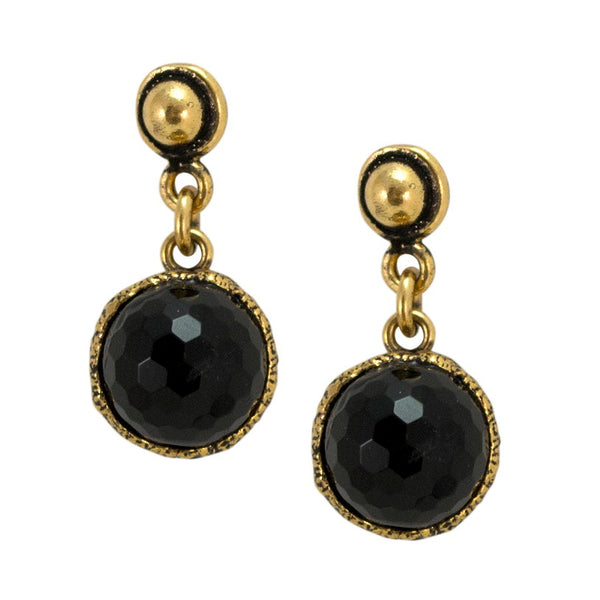 Drop Onyx Earrings