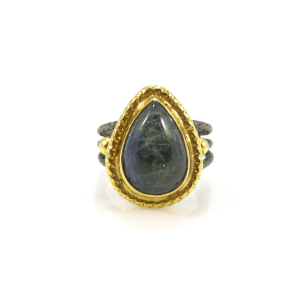 Opaque Tanzanite Sterling Silver Ring