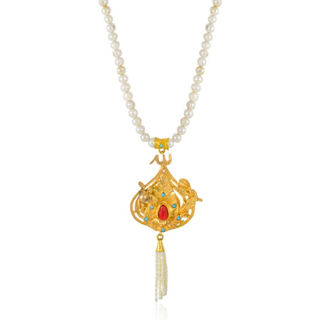 Heart of Viana Filigree Gold Plated Silver Pendant Necklace