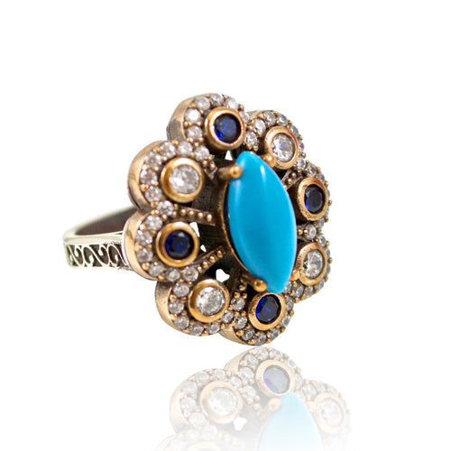 Ottoman-Inspired Statement Ring - Size 8.5