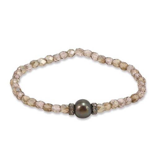 Crystal and Pearl Bracelet - One Size Fits Most