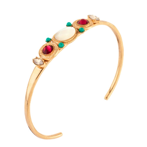 Glamorous Swarovski Crystal Bangle by Satellite Paris