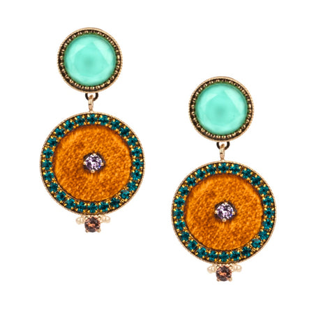 Turquoise Hoop Earrings by Satellite Paris - Medium Size
