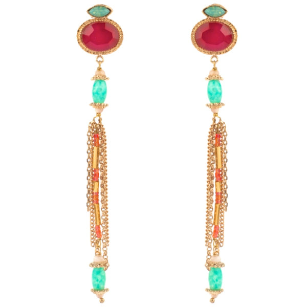Chiara Sparkle Silver Chandelier Earrings by Satellite Paris