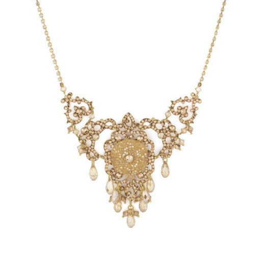 Chiara Brilliant Golden Drop Necklace by Satellite Paris