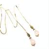 Rose Quartz Lariat Necklace