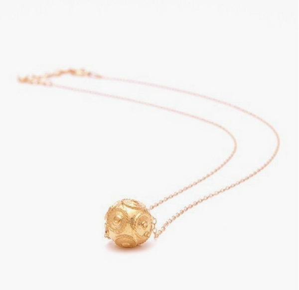 Viana's Conta Necklace - Gold Plated Silver
