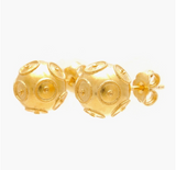 Viana's Conta Post Earrings - Gold Plated Silver