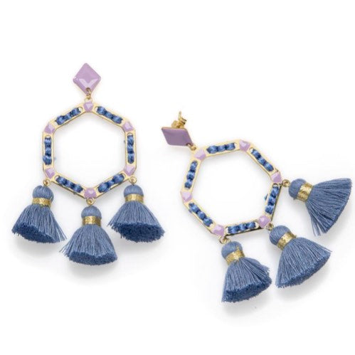 Elettra Earrings in Soft Blue and Purple
