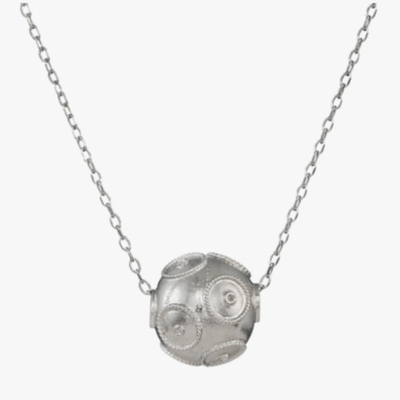 Viana's Conta Necklace - Silver