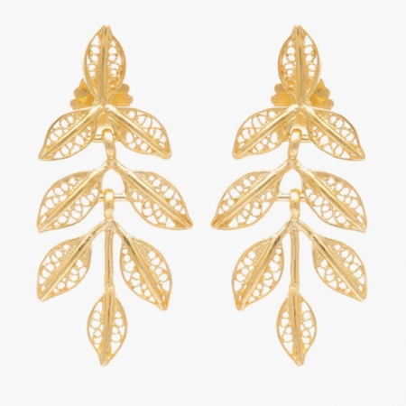 Fujita Pheasant Feather Earrings by Satellite Paris