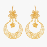 Arrecadas Gold Plated Sterling Silver Filigree Earrings