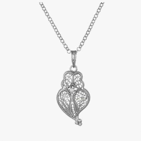 Circle Sterling Silver Filigree Necklace