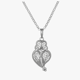 Silver Heart of Viana Filigree Pendant Necklace