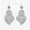 Heart of Viana Filigree Silver Earrings