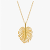 Gold Plated Silver Leaf Filigree Pendant Necklace