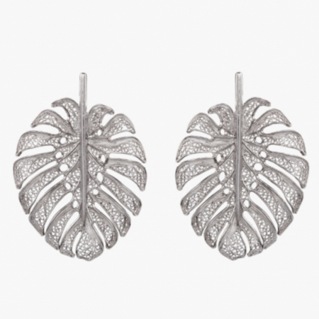Heart of Viana Silver Filigree and Enamel Earrings