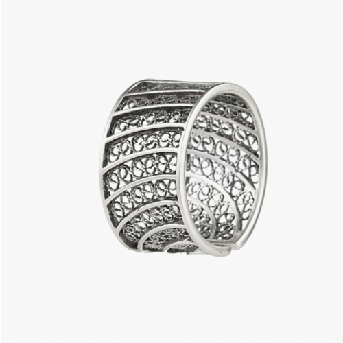 Silver Filigree Sterling Silver Adjustable Ring