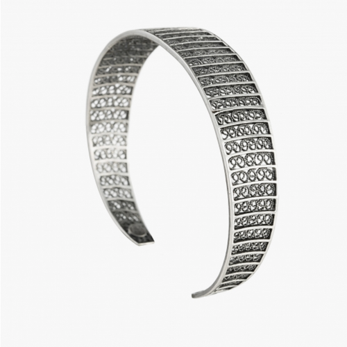 Filigree Sterling Silver Cuff