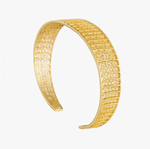 Filigree Gold Plated Sterling Silver Cuff