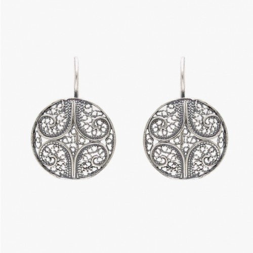 Circle Sterling Silver Filigree Earrings
