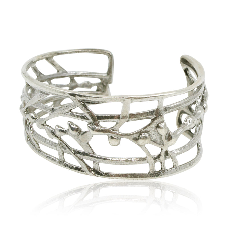 Sterling Silver Branches and Rivers Cuff