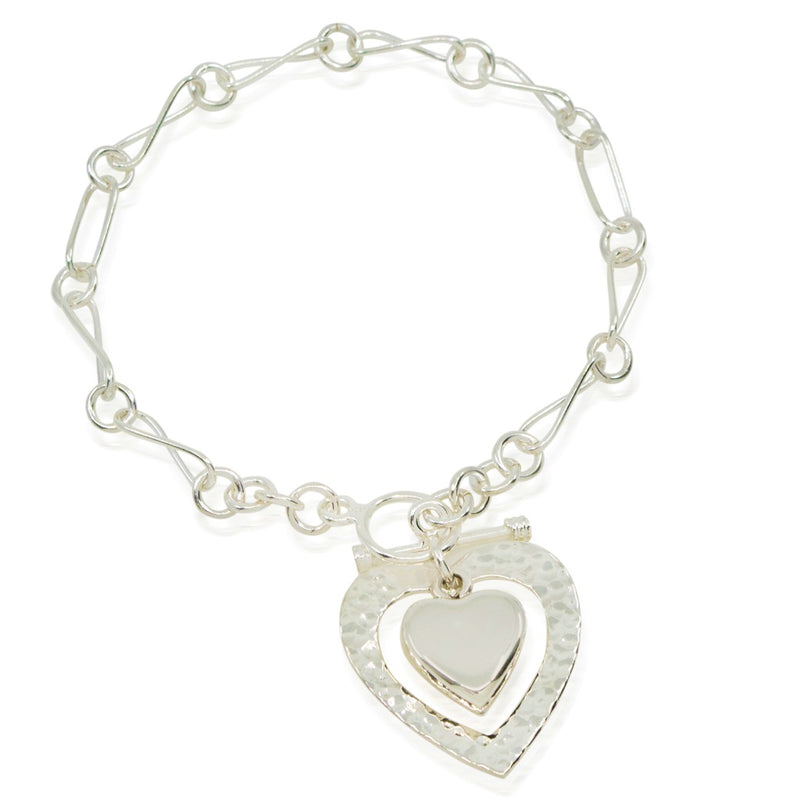 Silver Heart Bracelet from Taxco, Mexico