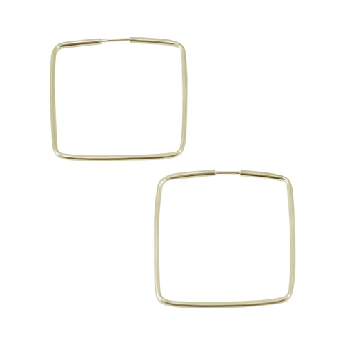 Square Hoop Earrings from Taxco, Mexico