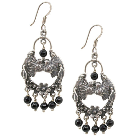 Silver Filigree with Drop Pearls Earrings