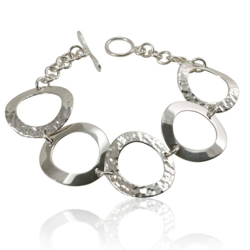 Silver Ring Bracelet from Taxco, Mexico