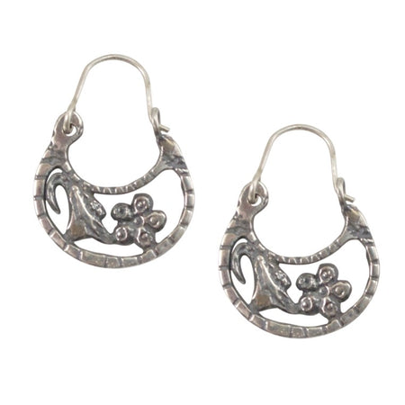 Unique Hoop Earrings from Taxco, Mexico