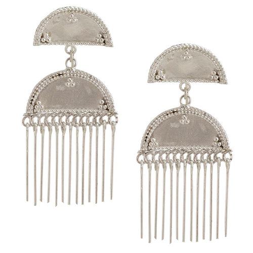 Traditional Pate Silver Earrings