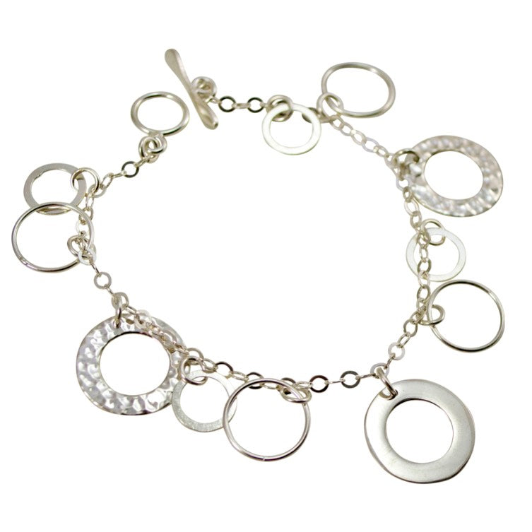 Silver Ring Charm Bracelet from Taxco, Mexico
