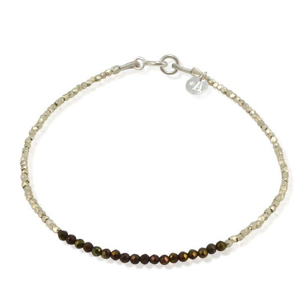 Pyrite and Sterling Silver Bracelet