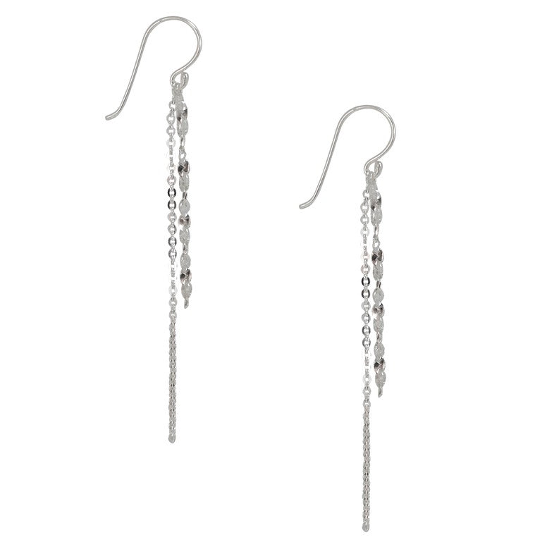 Sterling Silver Double Chain Earrings