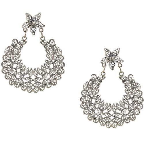 Lace Filigree Sterling Silver Earrings
