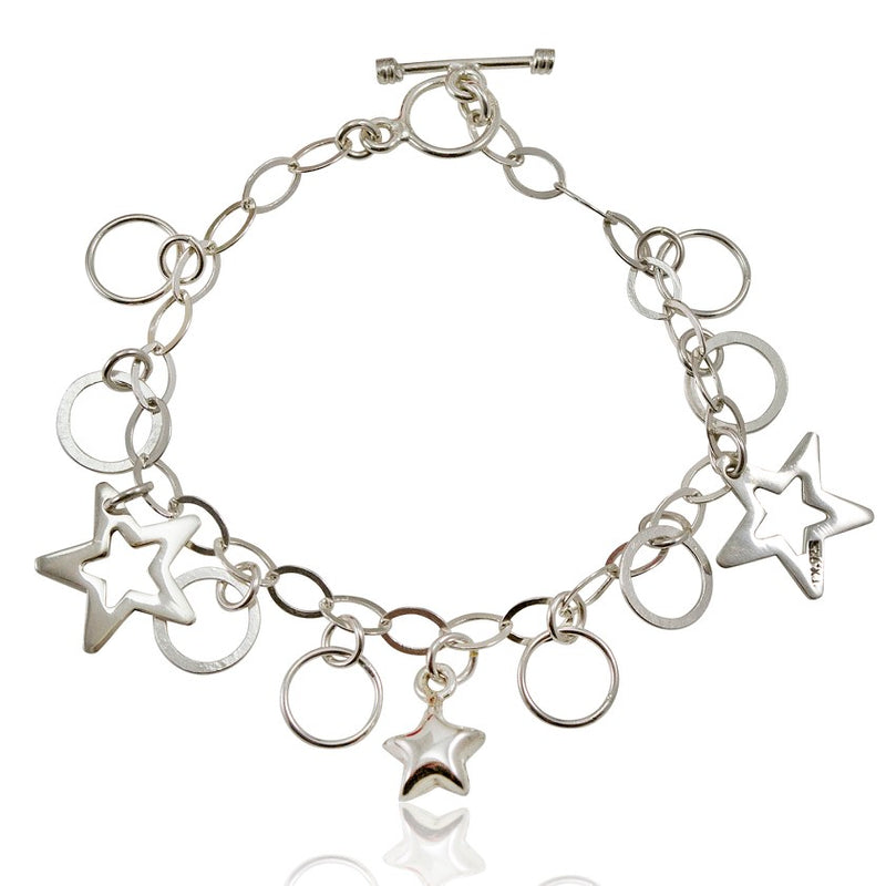 Silver Star Charm Bracelet from Taxco, Mexico