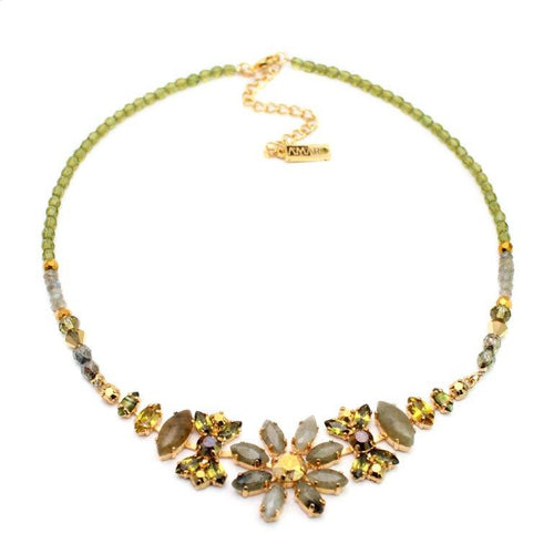 Stone Flower Necklace by AMARO