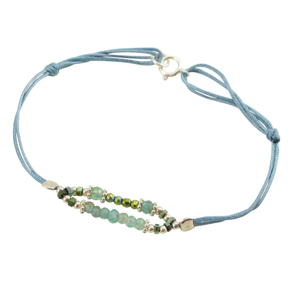Stone and Crystal Bead Cord Bracelet by CLO&LOU