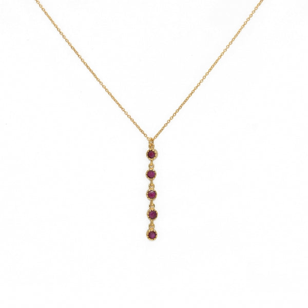 Ruby Drop Pendant Necklace